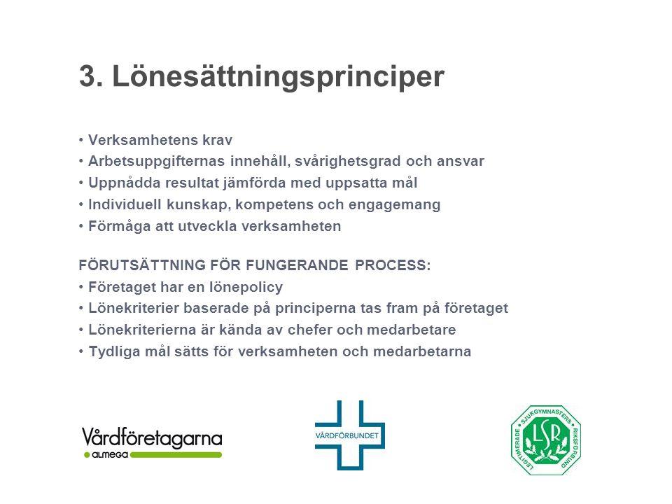 3. Lönesättningsprinciper