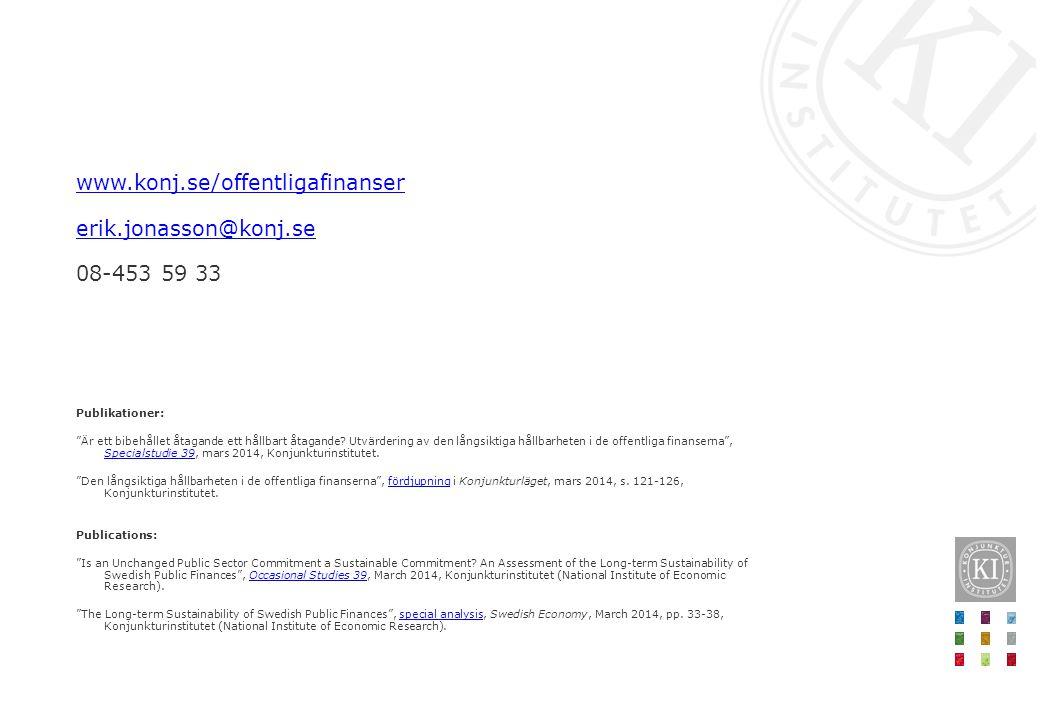www.konj.se/offentligafinanser erik.jonasson@konj.se 08-453 59 33