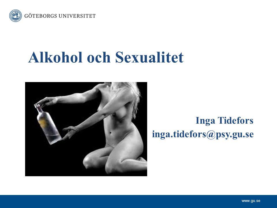 Alkohol och Sexualitet
