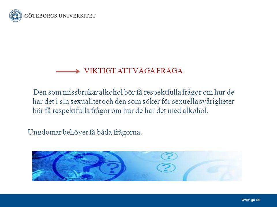 VIKTIGT ATT VÅGA FRÅGA