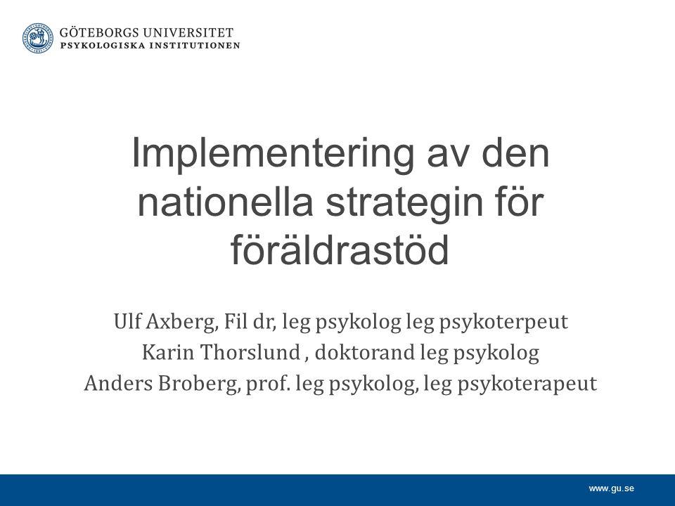 Implementering av den nationella strategin för föräldrastöd