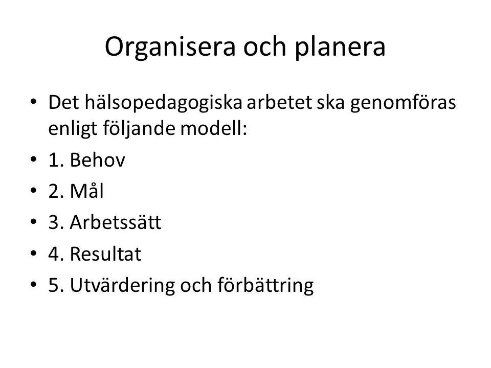 Organisera och planera
