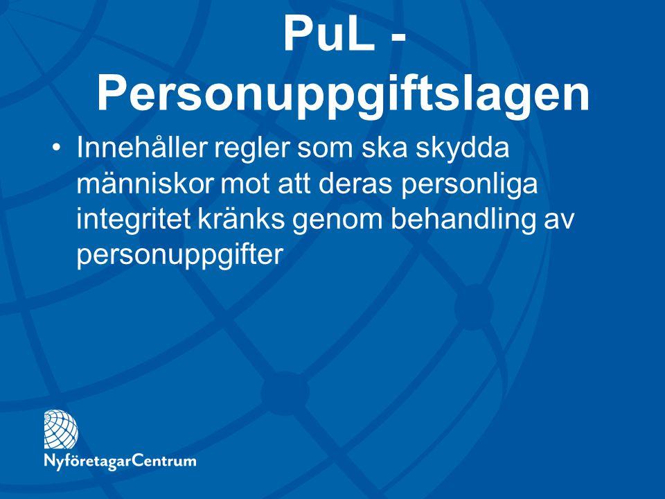 PuL - Personuppgiftslagen