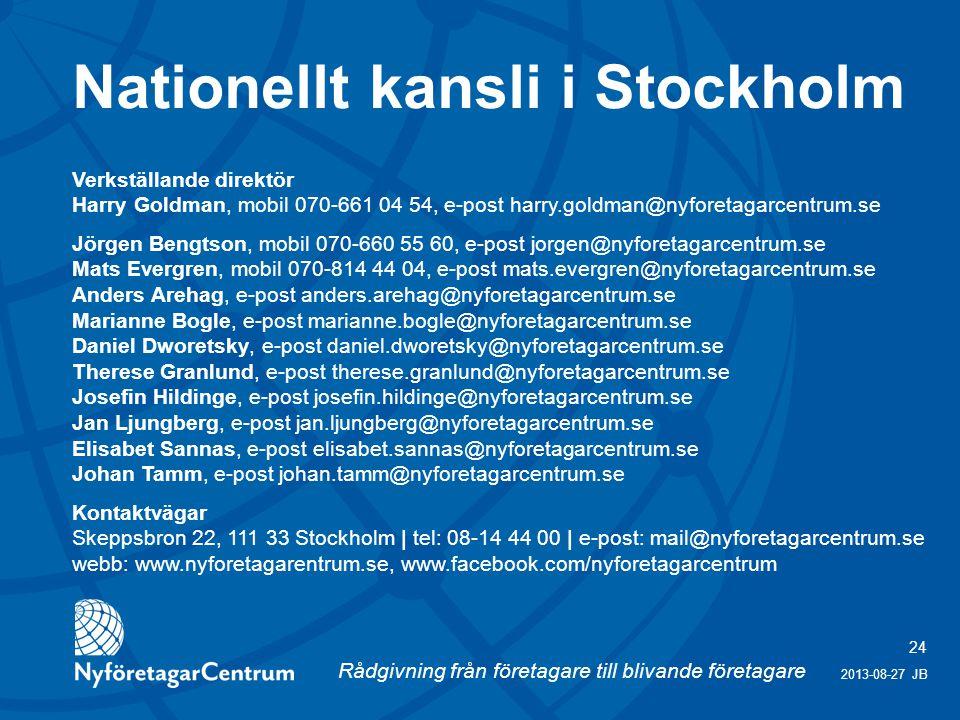 Nationellt kansli i Stockholm