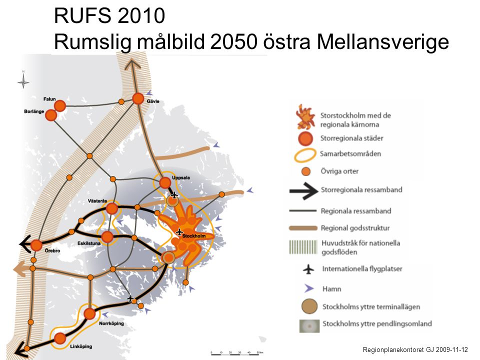 RUFS 2010 Rumslig målbild 2050 östra Mellansverige