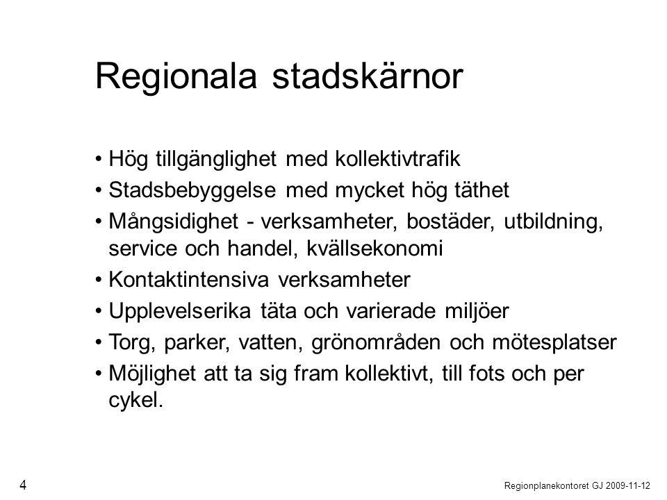 Regionala stadskärnor