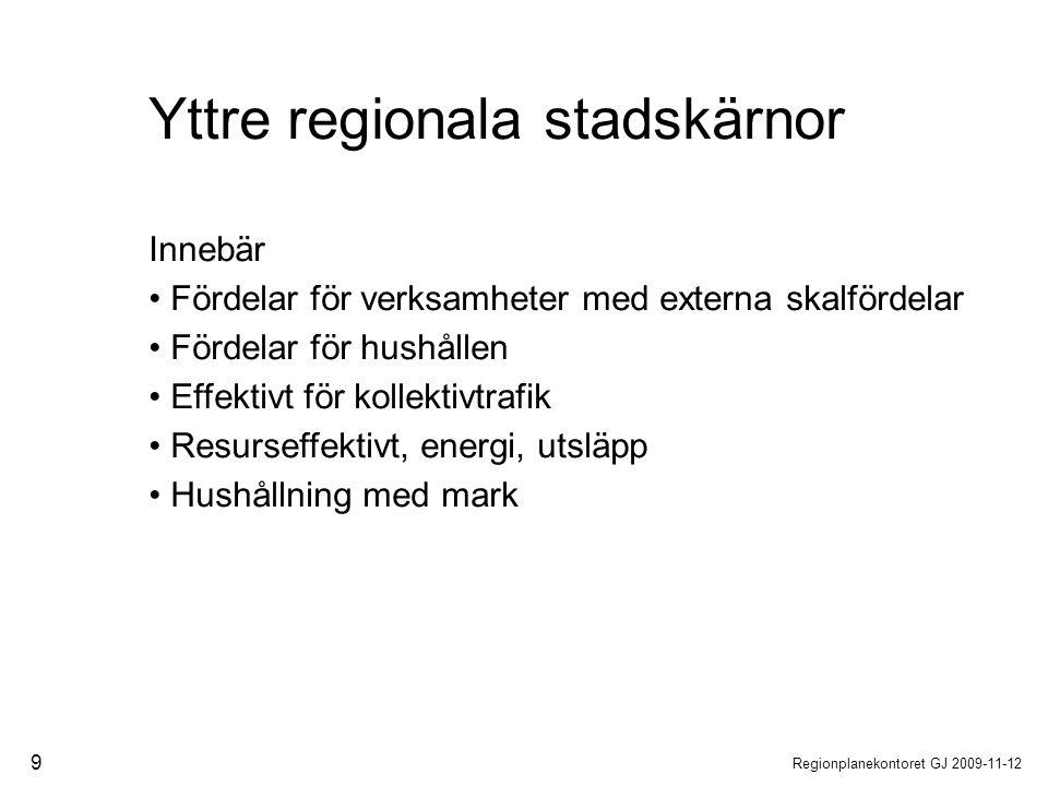 Yttre regionala stadskärnor