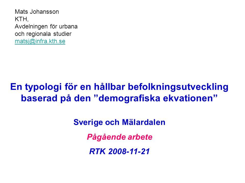 Sverige och Mälardalen