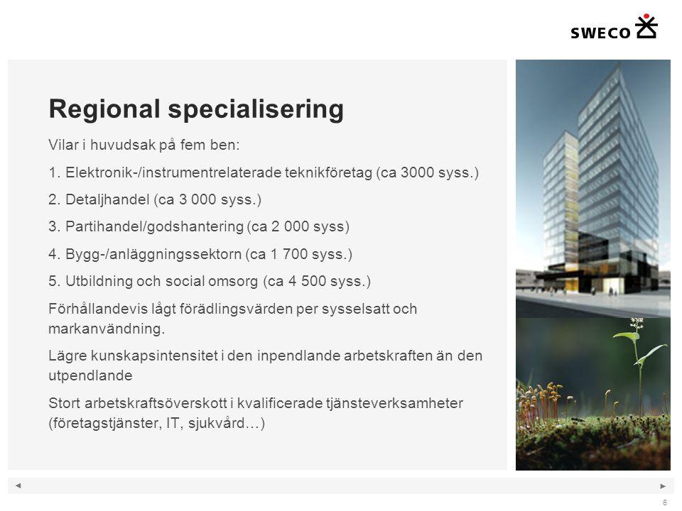 Regional specialisering