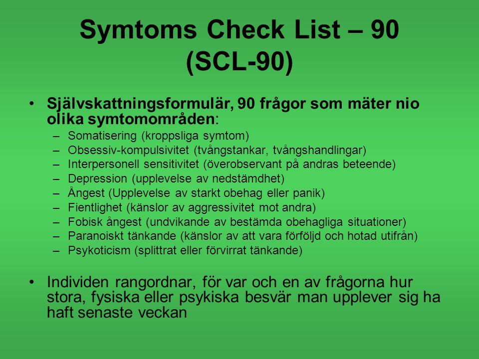Symtoms Check List – 90 (SCL-90)