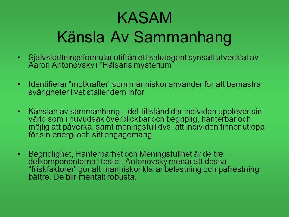 KASAM Känsla Av Sammanhang