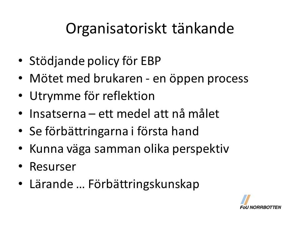 Organisatoriskt tänkande