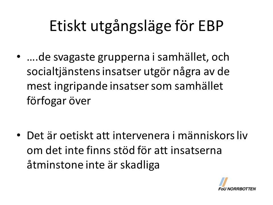 Etiskt utgångsläge för EBP