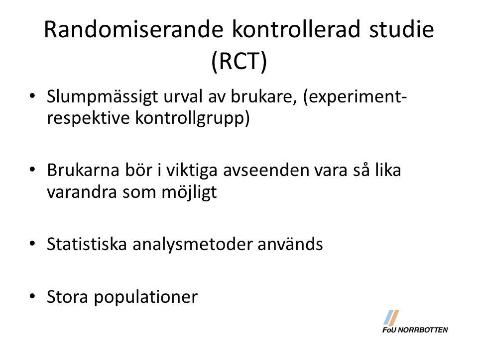 Randomiserande kontrollerad studie (RCT)