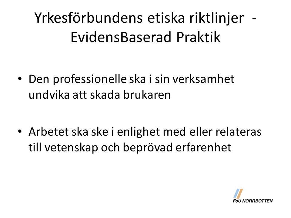 Yrkesförbundens etiska riktlinjer - EvidensBaserad Praktik