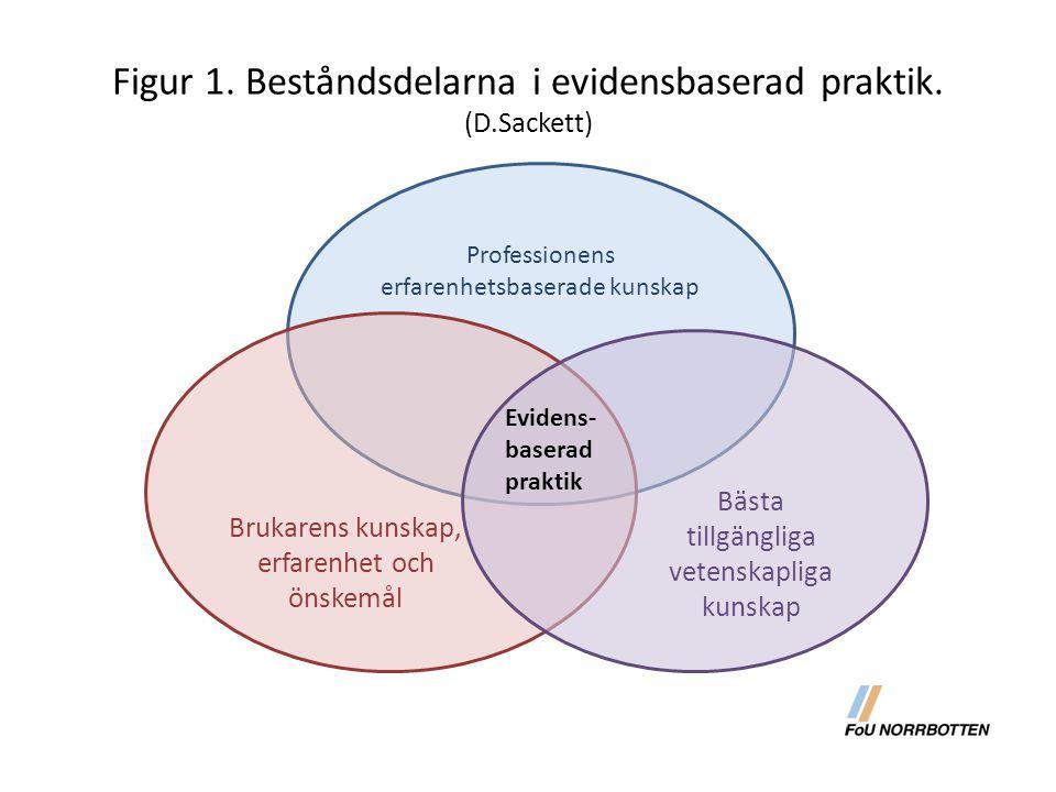 Figur 1. Beståndsdelarna i evidensbaserad praktik. (D.Sackett)