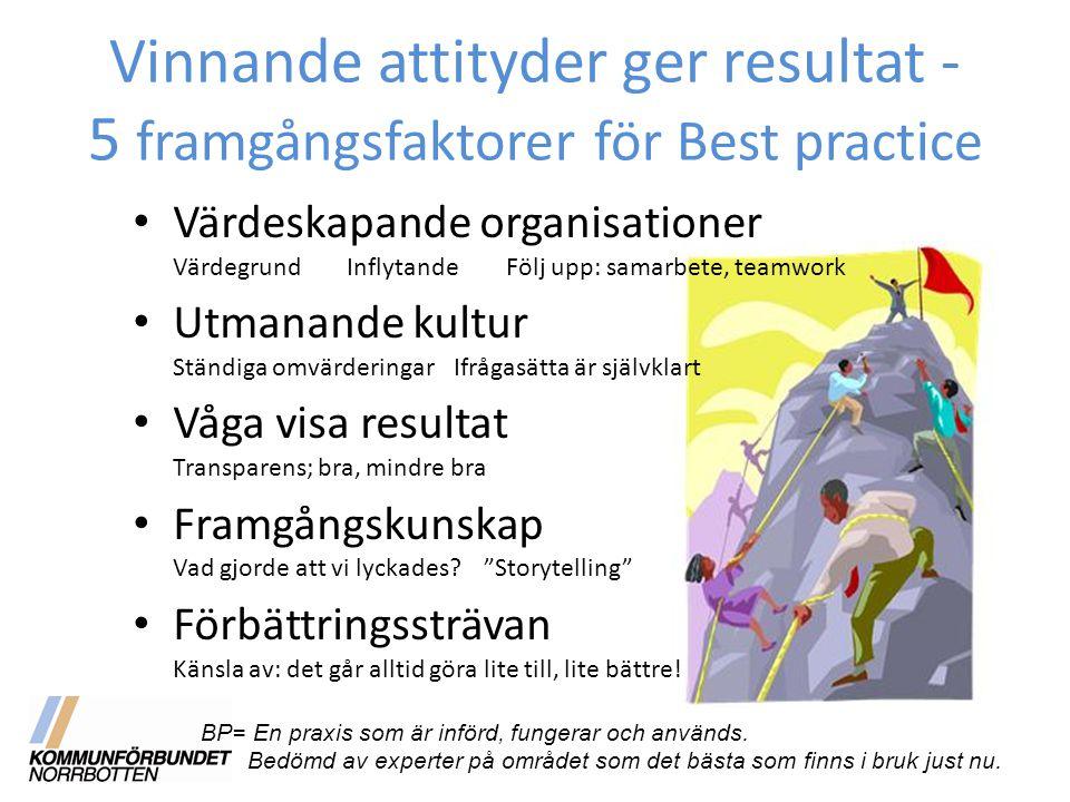 Vinnande attityder ger resultat - 5 framgångsfaktorer för Best practice