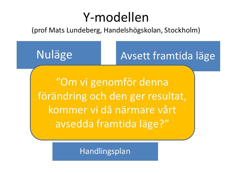 Y-modellen (prof Mats Lundeberg, Handelshögskolan, Stockholm)
