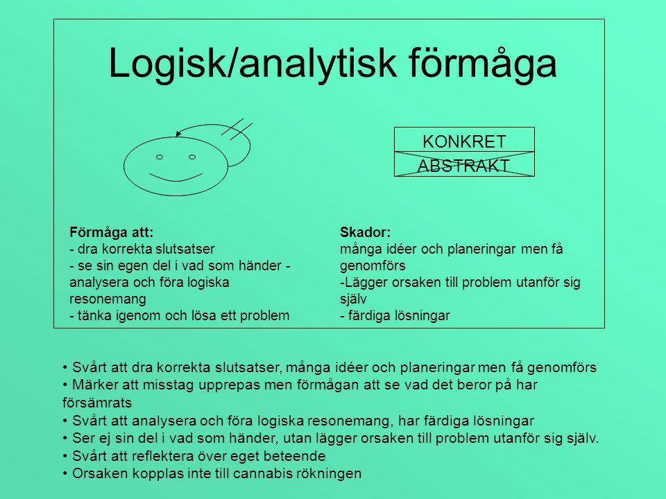 Logisk/analytisk förmåga