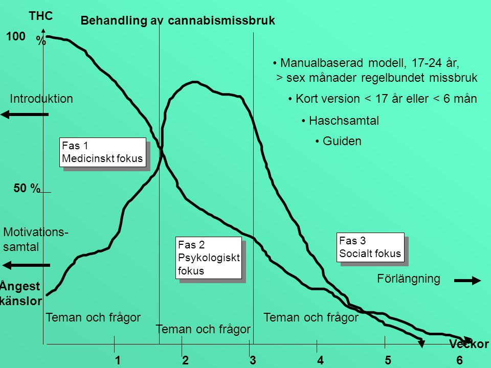 Behandling av cannabismissbruk 100 %