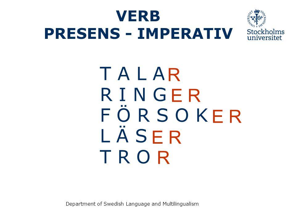 VERB PRESENS - IMPERATIV