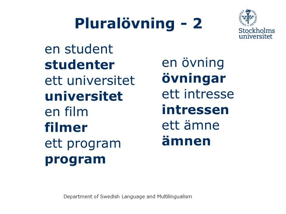 Pluralövning - 2 en student studenter ett universitet en övning