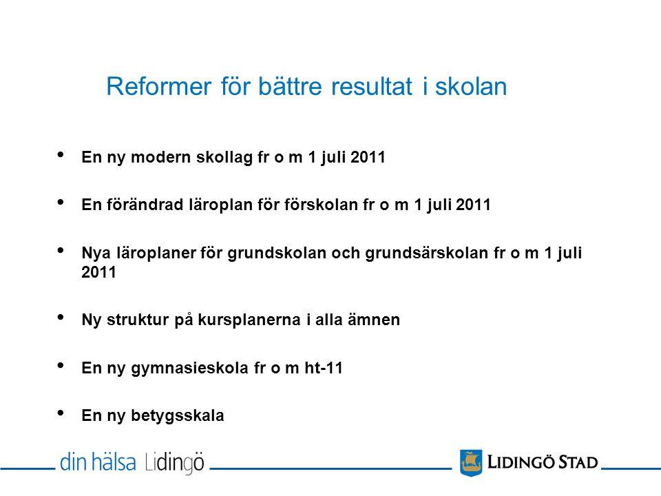 Reformer för bättre resultat i skolan