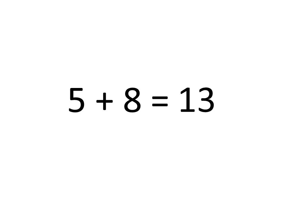 13 5 + 8 =