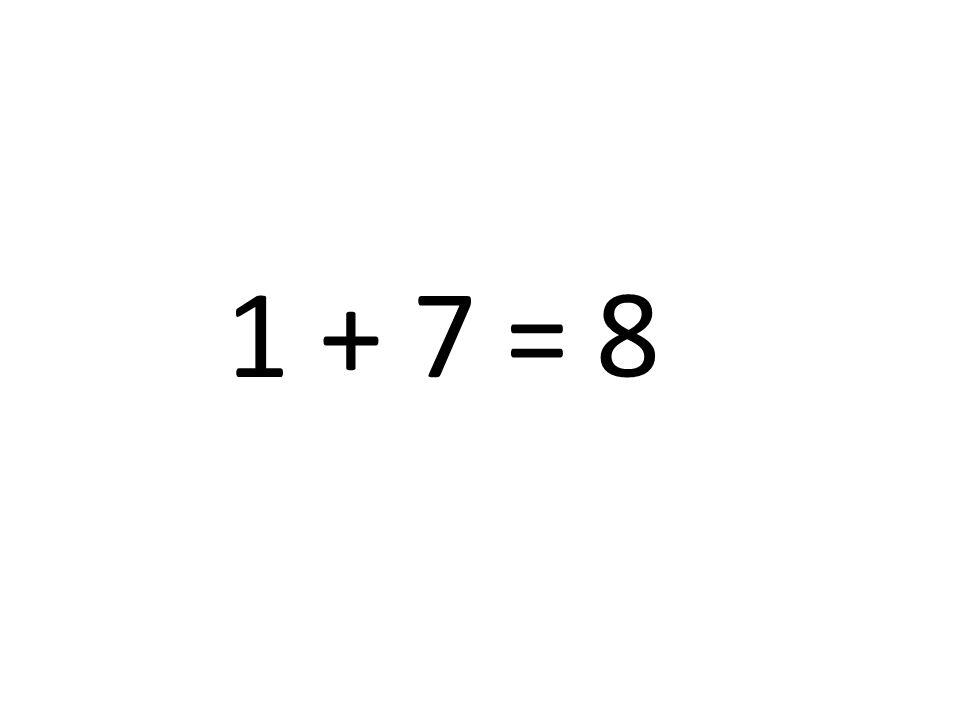 8 1 + 7 =