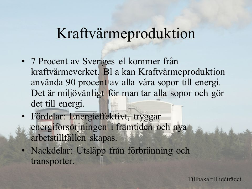Kraftvärmeproduktion