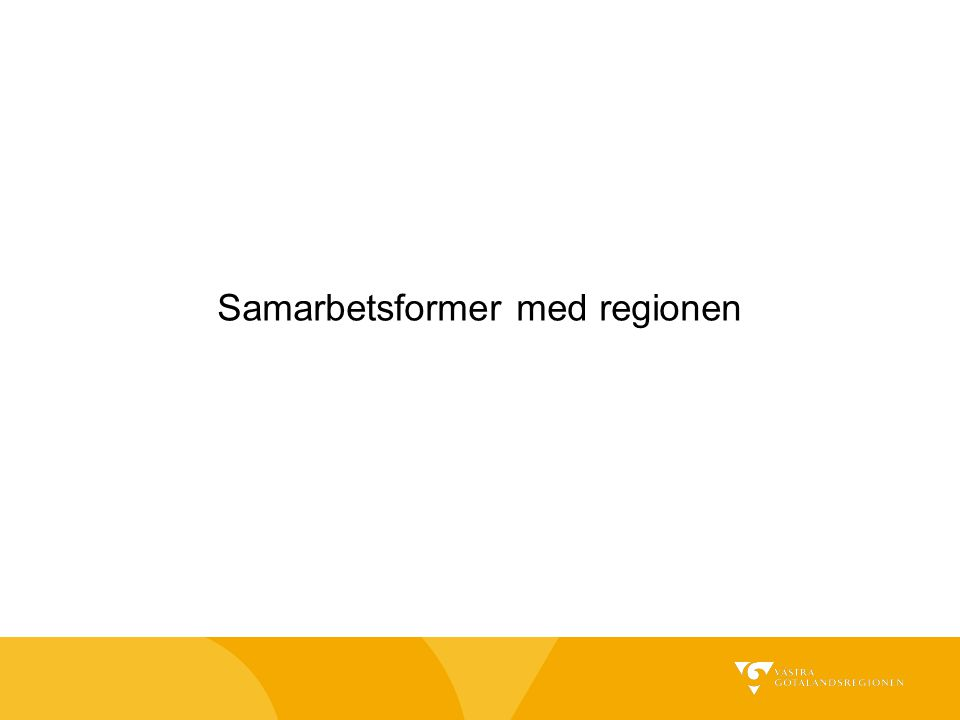 Samarbetsformer med regionen
