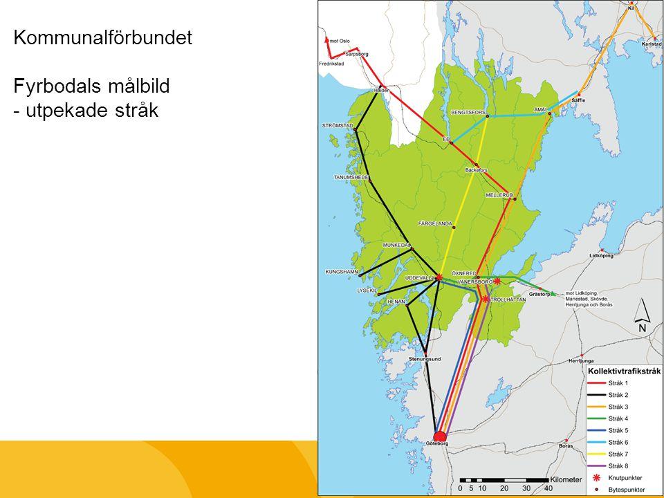 Kommunalförbundet Fyrbodals målbild - utpekade stråk