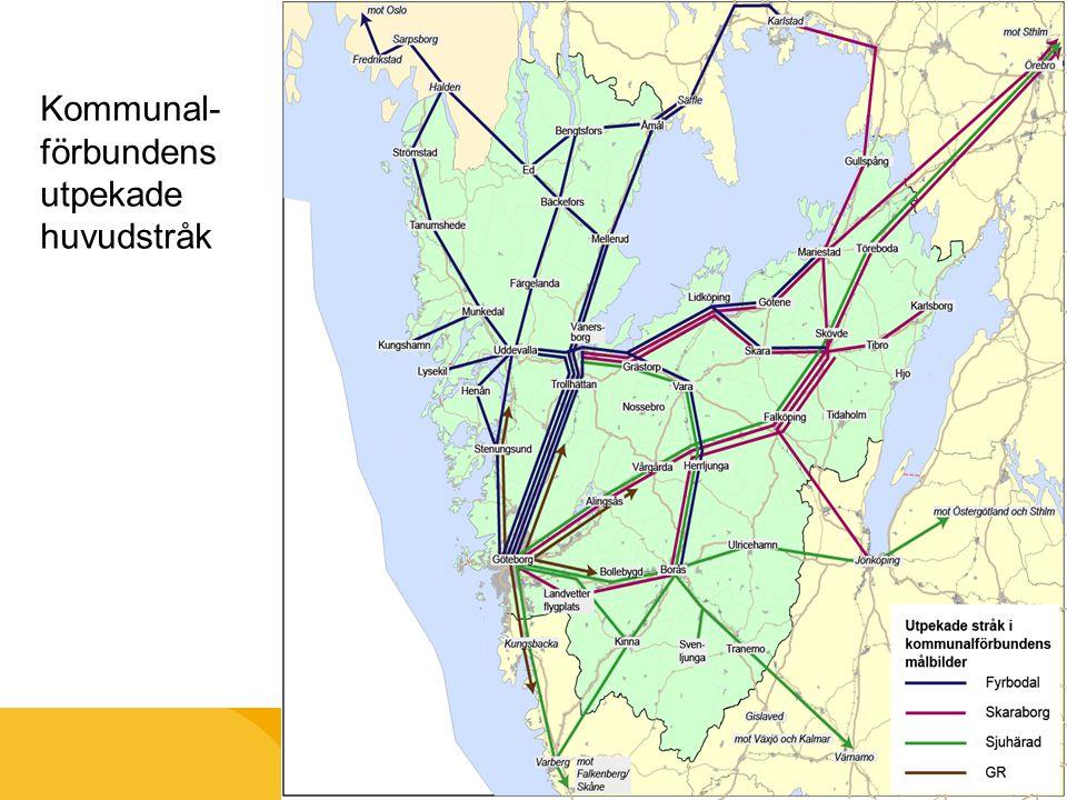 Kommunal-förbundens utpekade huvudstråk