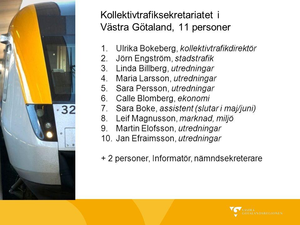 Kollektivtrafiksekretariatet i Västra Götaland, 11 personer