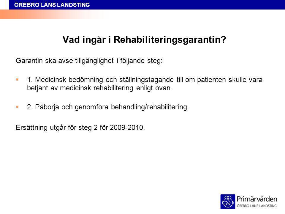 Vad ingår i Rehabiliteringsgarantin