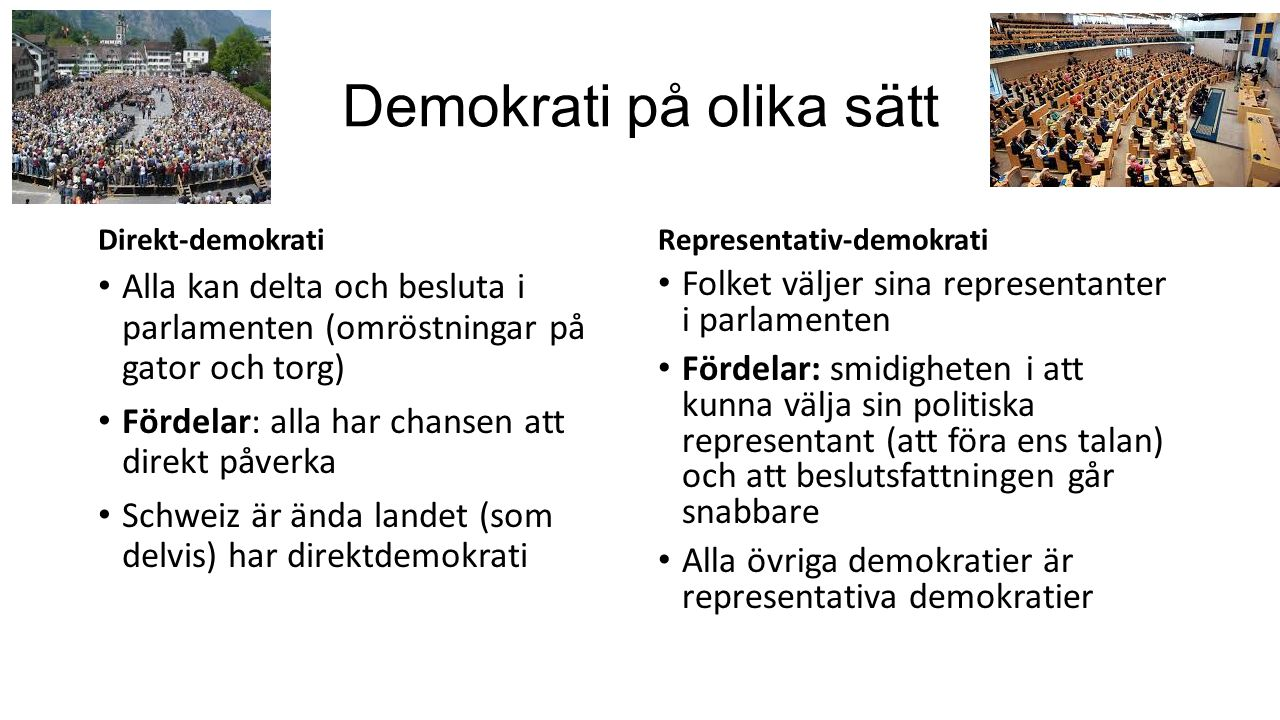 Demokrati på olika sätt