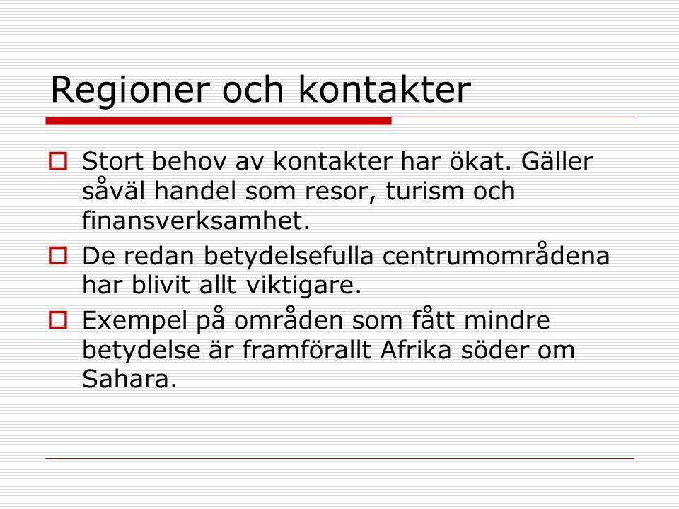 Regioner och kontakter