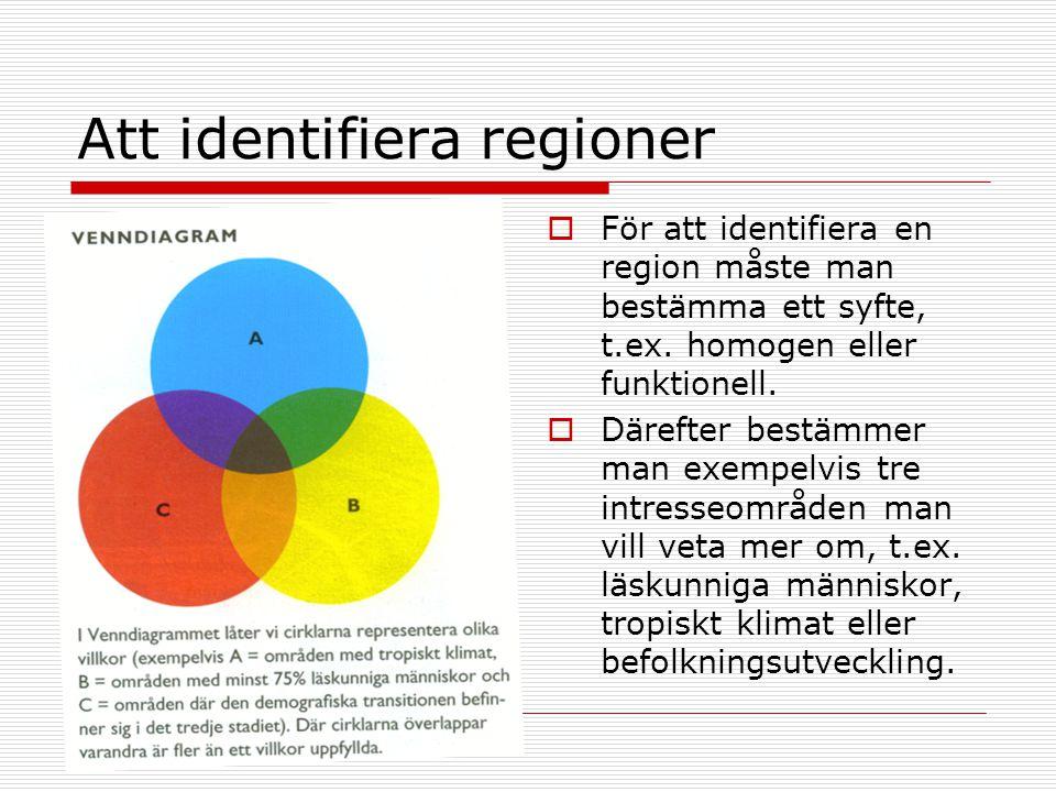 Att identifiera regioner