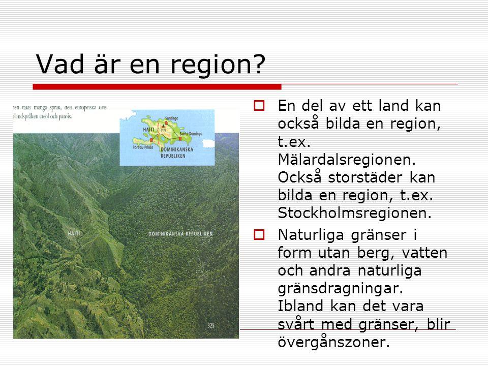 Vad är en region