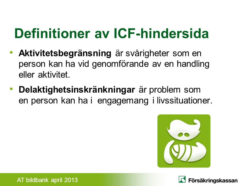 Definitioner av ICF-hindersida