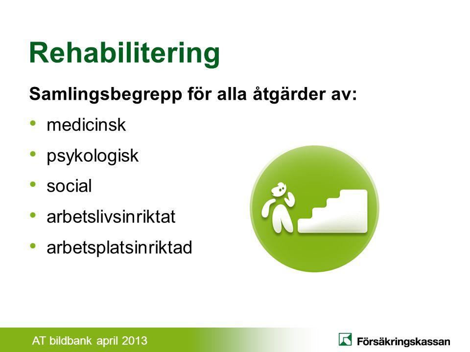 Rehabilitering Samlingsbegrepp för alla åtgärder av: medicinsk