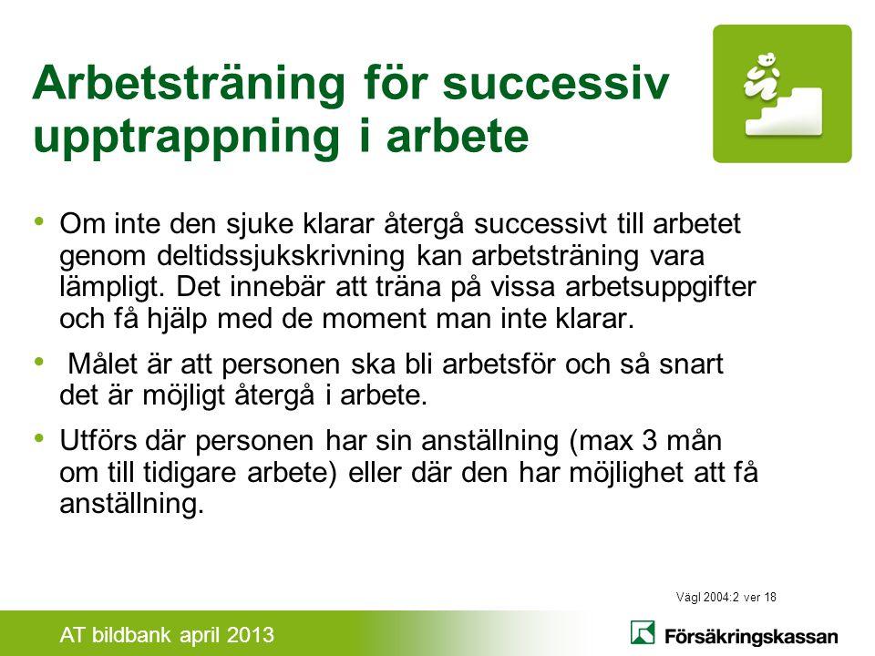 Arbetsträning för successiv upptrappning i arbete