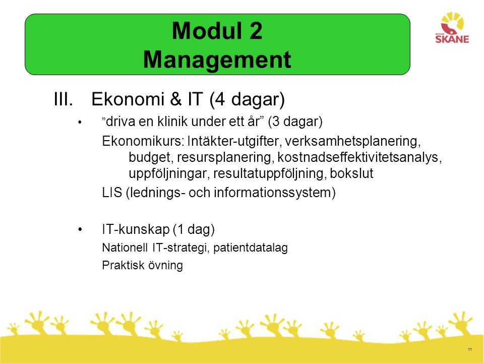 Modul 2 Management Ekonomi & IT (4 dagar)