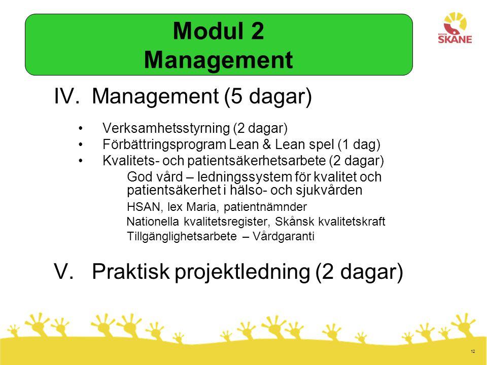 Modul 2 Management Management (5 dagar)
