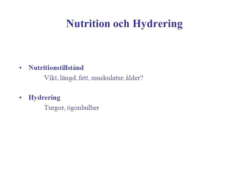Nutrition och Hydrering