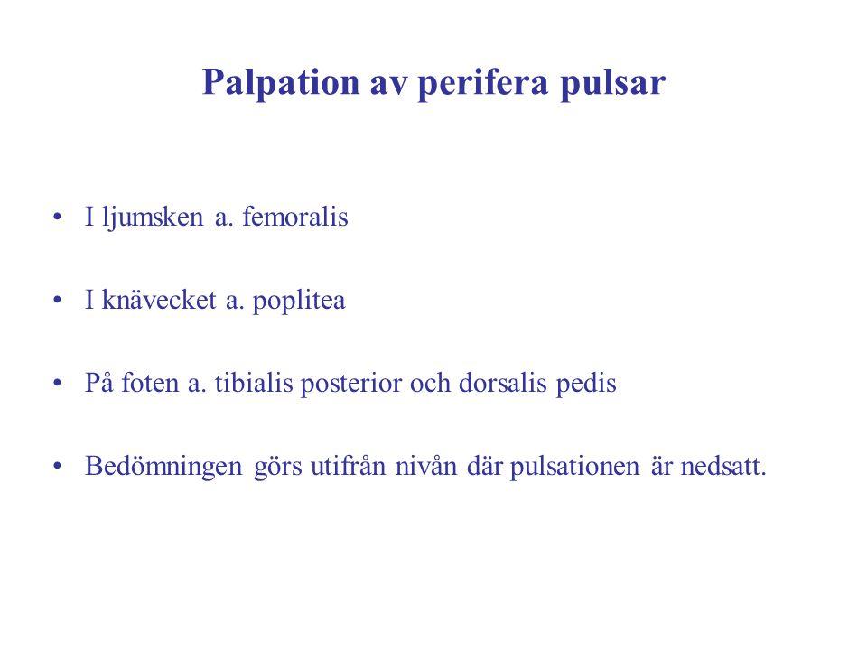 Palpation av perifera pulsar