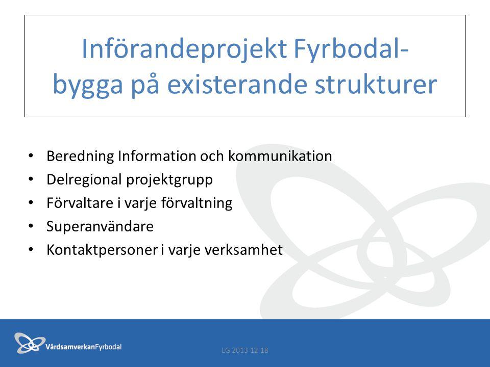 Införandeprojekt Fyrbodal- bygga på existerande strukturer