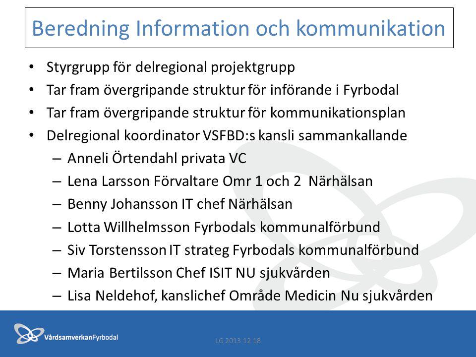 Beredning Information och kommunikation