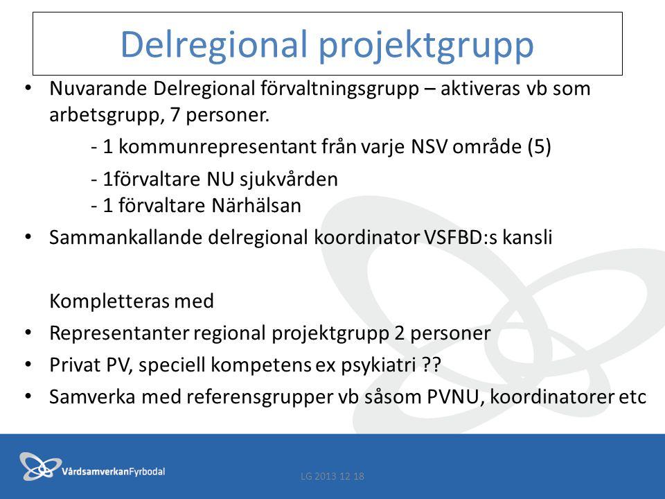 Delregional projektgrupp