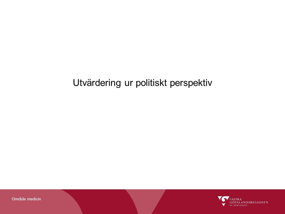 Utvärdering ur politiskt perspektiv